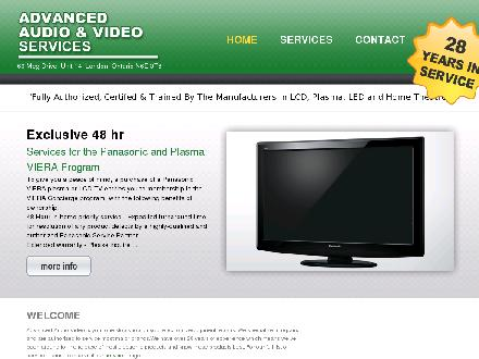 Advanced Audio & Video Services (519-686-4334) - Website thumbnail - http://www.advancedaudio-video.ca