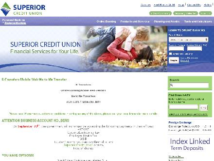 Superior Credit Union Ltd (807-624-2255) - Onglet de site Web - http://www.supercu.com