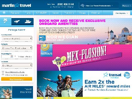 Marlin Travel (519-426-2144) - Onglet de site Web - http://www.marlintravel.ca/1209