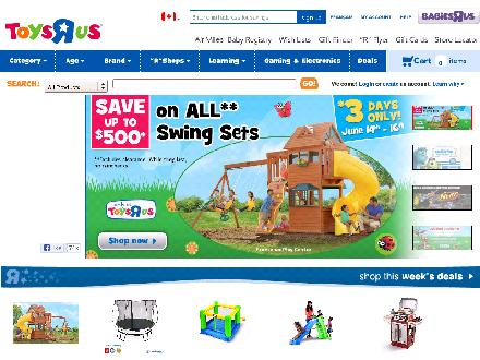 Toysrus.ca - Onglet de site Web - http://www.toysrus.ca