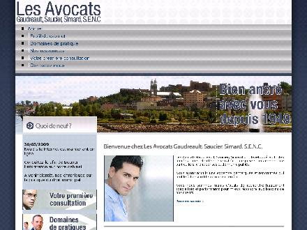 Gaudreault Saucier Simard Avocats (418-549-7182) - Website thumbnail - http://www.gssavocats.com