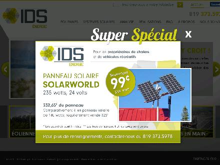 I D S Energie Inc (819-373-5978) - Onglet de site Web - http://www.ids-energie.com/