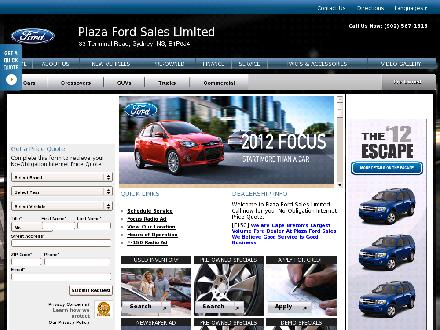 Plaza Ford (902-567-1616) - Onglet de site Web - http://www.plazaford.ca