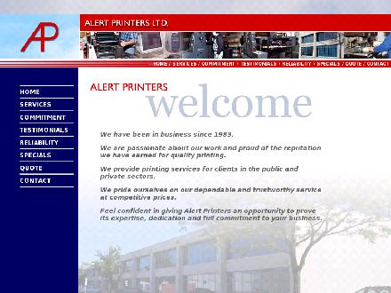 Alert Printers Ltd (647-691-0834) - Onglet de site Web - http://alertprinters.com