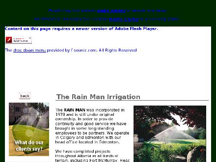 Rain Man Irrigation & Plumbing Ltd The (780-973-3662) - Onglet de site Web - http://www.rainmanirrigation.ca