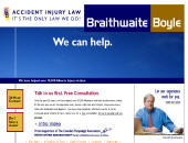 Braithwaite Boyle Accident Injury Law (1-877-766-2335) - Website thumbnail - http://www.accidentinjurylawyer.com