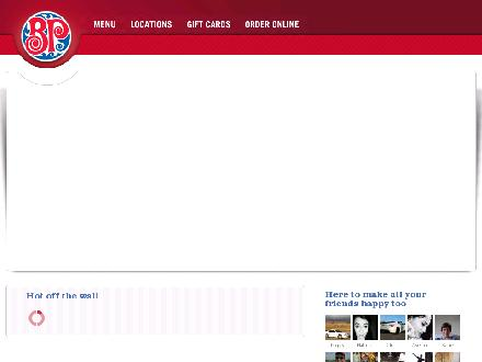 Boston Pizza (204-677-0111) - Onglet de site Web - http://www.bostonpizza.ca