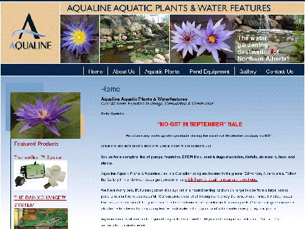 Aqualine Waterfeatures &amp; Landscaping (780-400-0011) - Onglet de site Web - http://www.aqualinewaterfeatures.com