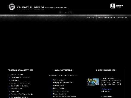 Calgary Aluminum Custom Fabrication Ltd (403-767-2594) - Onglet de site Web - http://www.calgaryaluminum.com