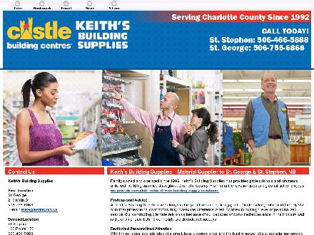 Keith's Building Supplies (506-466-5888) - Website thumbnail - http://keiths2x4.ca/