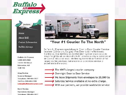 Buffalo Air Express (780-455-9283) - Onglet de site Web - http://www.buffaloairexpress.com