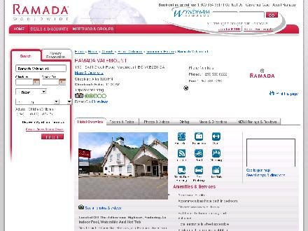 Ramada (250-566-8222) - Website thumbnail - http://www.ramada.com/Ramada/control/Booking/property_info?propertyId=29153
