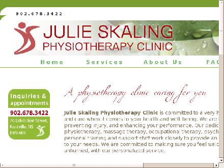 Julie Skaling Physiotherapy Clinic Inc (902-678-3422) - Website thumbnail - http://www.julieskalingphysiotherapy.com