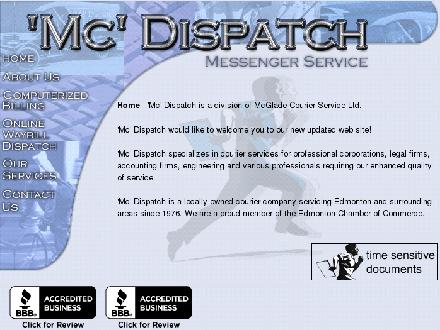 MC Dispatch (780-483-4611) - Onglet de site Web - http://www.mcdispatch.com