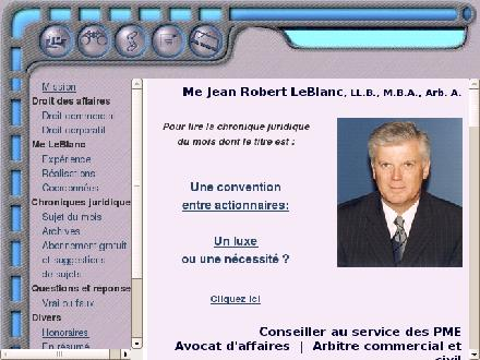 LeBlanc Jean Robert (450-442-7030) - Website thumbnail - http://www.avocatdaffaires.ca