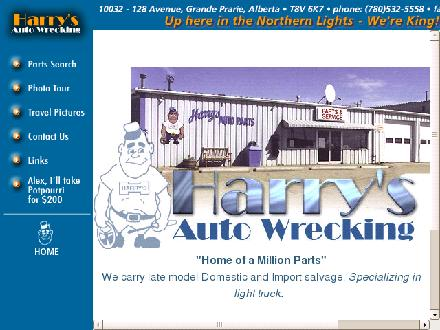 Harry's Auto Wrecking (1-800-661-8817) - Website thumbnail - http://www.harrysauto.com
