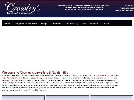 Crowley's Jewellers & Goldsmiths (780-477-2400) - Onglet de site Web - http://www.crowleysjewellers.com