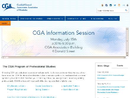 Certified General Accountants Association of Manitoba The (204-477-1256) - Onglet de site Web - http://www.cga-manitoba.org