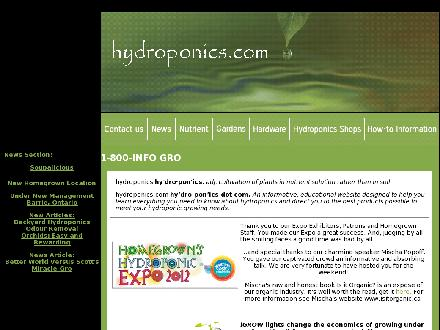 Homegrown Hydroponics Inc (705-721-8715) - Website thumbnail - http://www.hydroponics.com