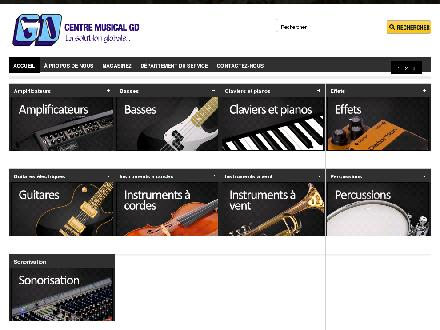 Centre Musical G D Inc (418-695-5761) - Website thumbnail - http://www.gdmusique.ca