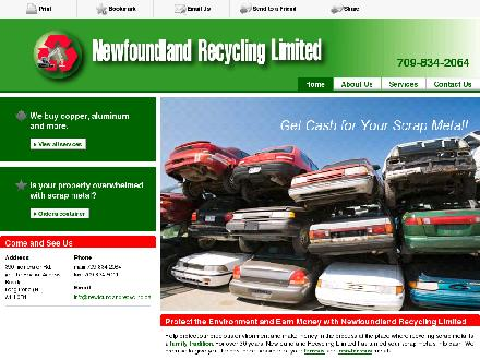 Newfoundland Recycling Ltd (709-834-2064) - Onglet de site Web - http://newfoundlandrecycling.ca