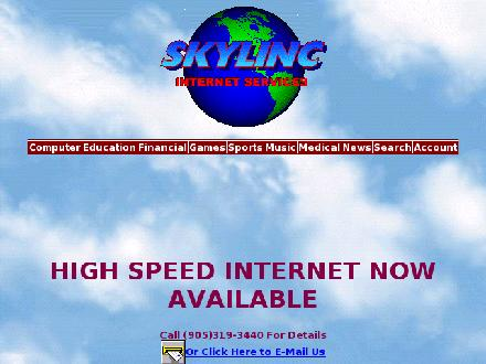 Skylinc Internet (905-319-3440) - Website thumbnail - http://www.skylinc.net