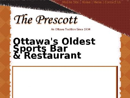 The Prescott (613-232-4217) - Website thumbnail - http://www.theprescott.com