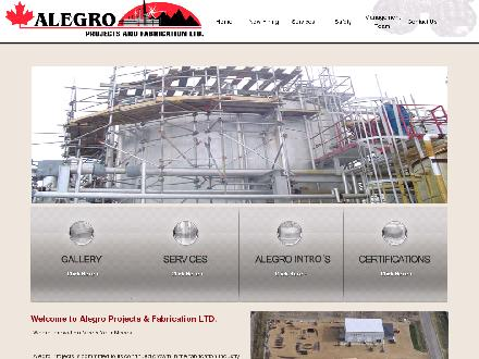 Alegro Projects & Fabrication Ltd (780-955-0266) - Onglet de site Web - http://www.alegroprojects.com