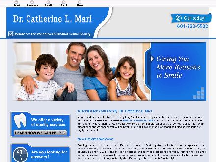 Mari Catherine L Dr Inc (604-922-5522) - Website thumbnail - http://drcatherinemari.ca/
