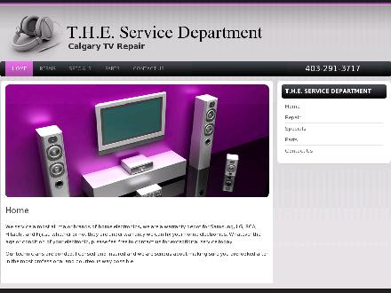 T H E Service Department (403-291-3717) - Onglet de site Web - http://www.calgarytvrepair.com