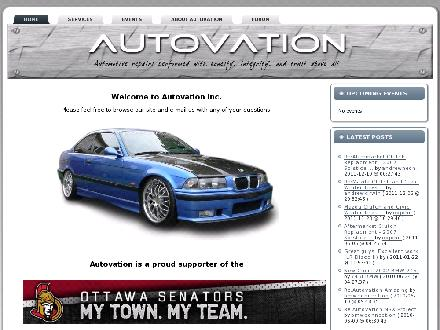 Autovation Inc (613-831-8714) - Onglet de site Web - http://www.autovation.ca