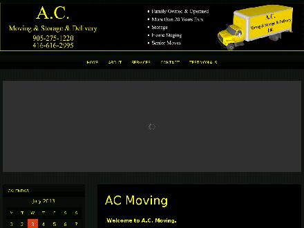 AC Moving & Storage & Delivery Ltd (905-275-1220) - Website thumbnail - http://www.acmoving.ca