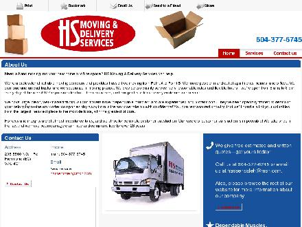 H S Moving Services (604-549-0219) - Onglet de site Web - http://hsmoving.com/
