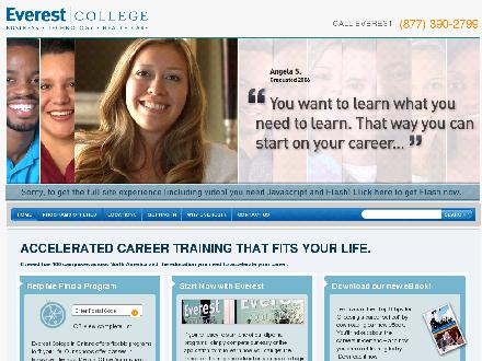 Everest College (1-800-979-6182) - Website thumbnail - http://www.everest.ca/?dmredirect=YPINTCDI&date=3