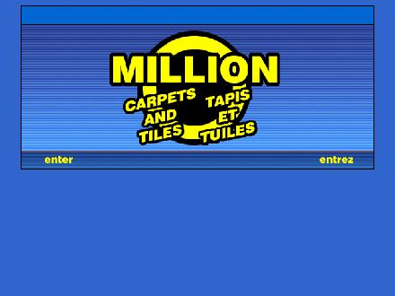 Million Carpets & Tiles (514-273-9983) - Website thumbnail - http://www.milliontapis.com