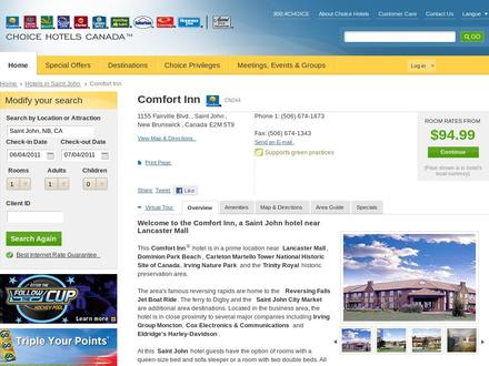 Comfort Inn (506-674-1873) - Website thumbnail - http://www.choicehotels.ca/cn244