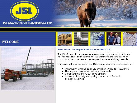 JSL Mechanical Installations Ltd (867-873-2856) - Onglet de site Web - http://www.jslmechanical.com