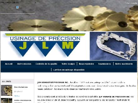 Atelier D'Usinage JLM Inc (418-878-4400) - Onglet de site Web - http://www.cncjlm.com