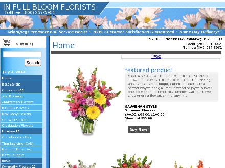 In Full Bloom Florists Inc (204-261-3064) - Onglet de site Web - http://www.infullbloomflorist.net