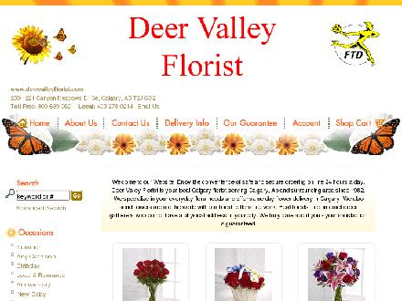 Deer Valley Florist (403-278-0214) - Website thumbnail - http://www.deervalleyflorist.com