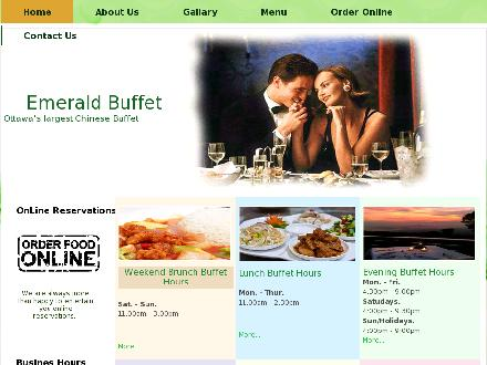 Emerald Buffet (613-749-2088) - Website thumbnail - http://www.emeraldbuffet.com