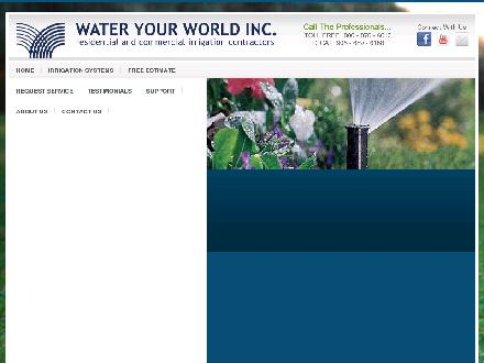 Water Your World Com. (905-689-6168) - Website thumbnail - http://www.wateryourworld.com
