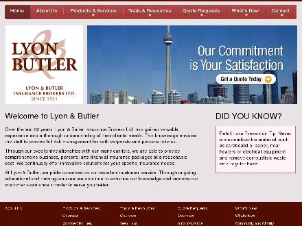 Lyon & Butler Insurance Brokers Ltd (416-913-0035) - Onglet de site Web - http://www.lyonbutler.com