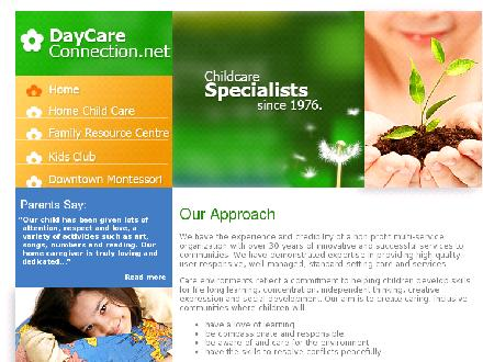 Day Care Connection (416-698-0750) - Onglet de site Web - http://www.daycareconnection.net