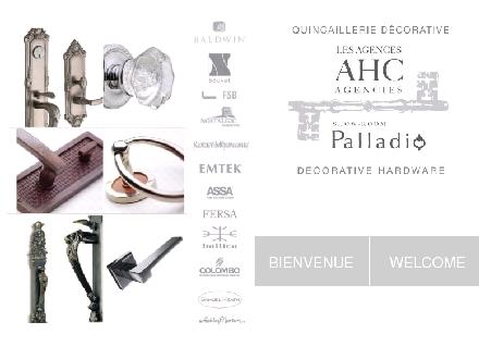Palladio Quincaillerie Decorative (514-337-3066) - Onglet de site Web - http://www.palladio-ahc.com