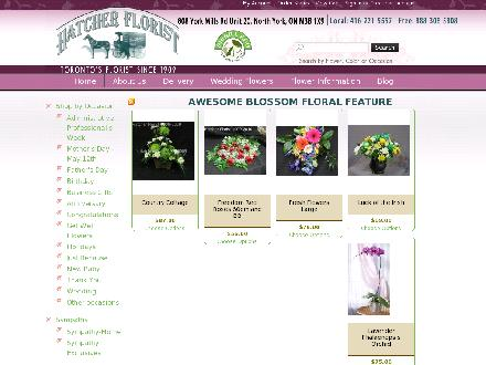 Hatcher Geo Florist Willowdale Ltd (416-221-5557) - Onglet de site Web - http://www.hatcherflorist.com
