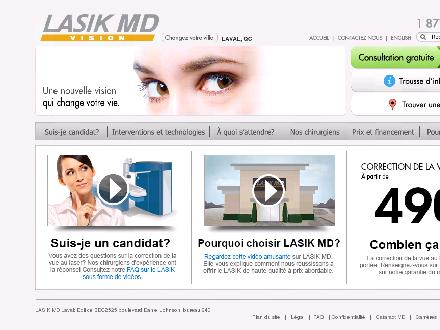 Lasik MD (1-877-947-5050) - Onglet de site Web - http://www.lasikmd.com/yp/laval
