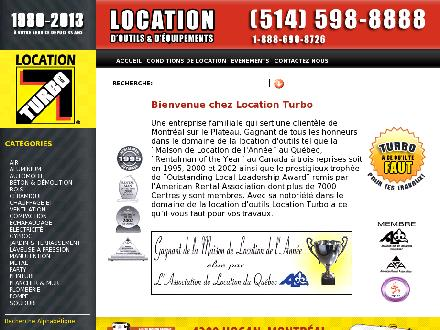 Atelier De Location Turbo Inc (514-598-8888) - Onglet de site Web - http://www.locationturbo.com