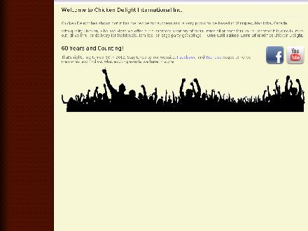 Chicken Delight Of Canada Ltd (204-885-7570) - Onglet de site Web - http://www.chickendelight.com