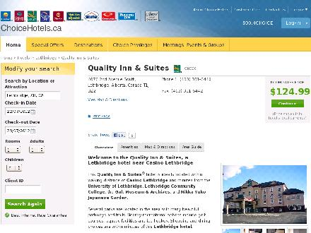 Quality Inn &amp; Suites (403-331-6440) - Onglet de site Web - http://www.choicehotels.ca/cn828